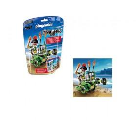 Playmobil Pirates - Saco com Canhão Interactivo Verde e Capitão Pirata 5-10