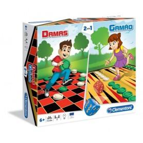 Jogo Damas + Gamão - Clementoni