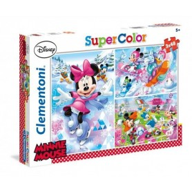 Puzzle Super Color 3x48 Minnie Sport- Clementoni