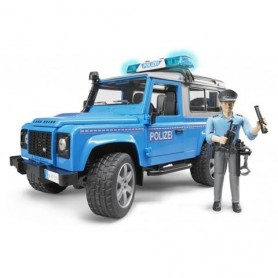 Jipe Land Rover Defender Station Wagon Police - Bruder