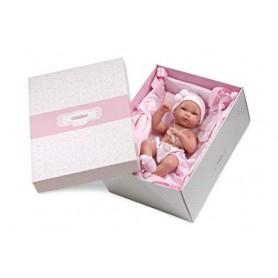 Boneco bebé em Berço Rosa - Llorens