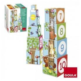 Cubos Empilháveis Bosque 1-10 - Goula