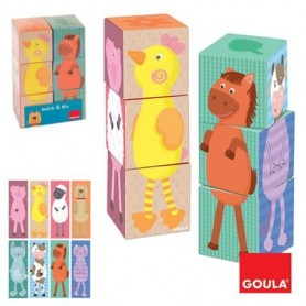 Puzzle 6 Cubos Match & Mix - Goula