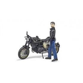 Mota Ducati Scrambler Desert Slade com Figura - Bruder