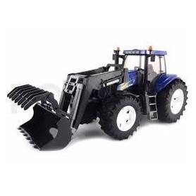 Tractor New Holland T8040 com frontloader - Bruder