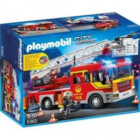 PLAYMOBIL CITY ACTION - Camião de Bombeiros com Escada, Luzes e Som