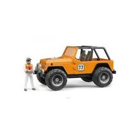 Jeep Corrida Todo o Terreno com Figura Azul - Bruder