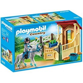 Playmobil Country: Cavalo Appaloosa com Estábulo 4-10