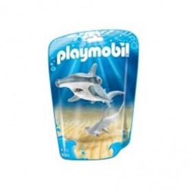 Playmobil - Saqueta com Tubarão Martelo e Bebé 4-10