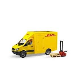 Carrinha DHL com Empilhador e 2 Paletes - Bruder