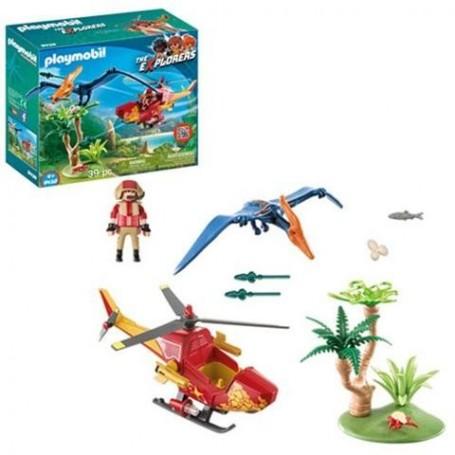 Playmobil Dino: Helicóptero com Pterosaurio 4+