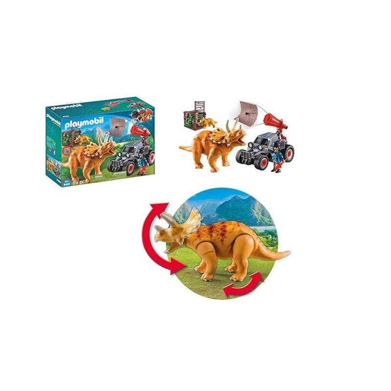 Playmobil Dino: Carro com Triceratops 4+
