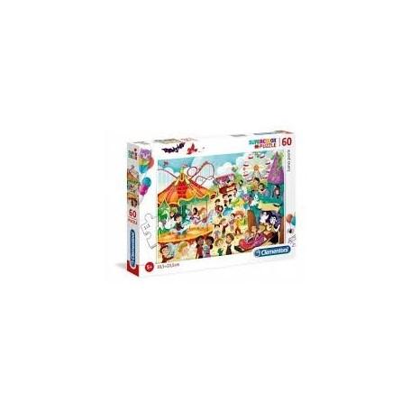 Puzzle 60 peças SuperColor Parque de Diversões - Clementoni