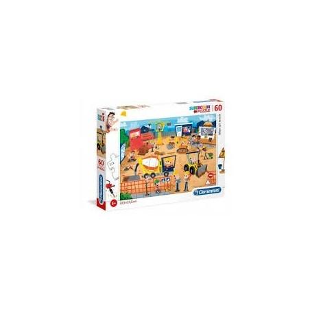 Puzzle 60 peças SuperColor Obras - Clementoni