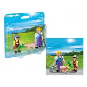 PLAYMOBIL COUNTRY - Pack Camponesa e Menino 4-10
