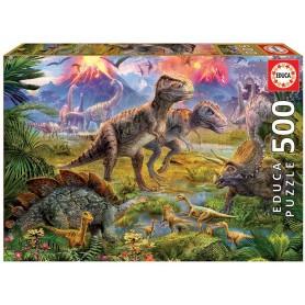 Puzzle 500 peças Encontro de Dinossauros - Educa