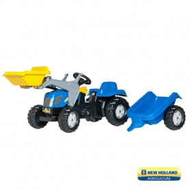 Tractor com Pá e Atrelado New Holland - Rolly Toys