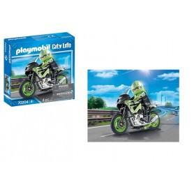 Playmobil City Life: Motociclista com Mota 4+