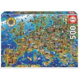 Puzzle 500 peças Mapa Mundo - Educa