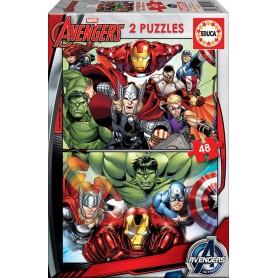 Puzzle 2x48 Avengers - Educa