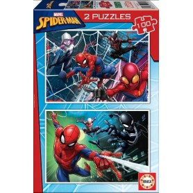 Puzzle 2x100 SpiderMan - Educa