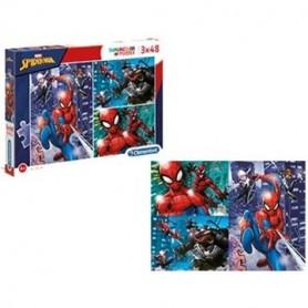 Puzzle 3x48 peças SuperColor SpiderMan - Clementoni