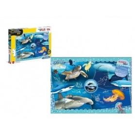 Puzzle 104 peças SuperColor Ocean National Geographic Kids - Clementoni