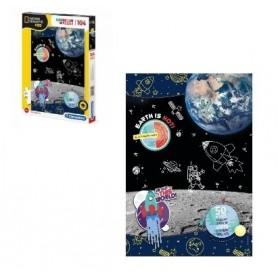Puzzle 104 peças SuperColor Space National Geographic Kids - Clementoni