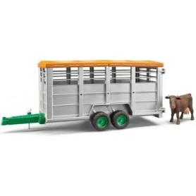 Atrelado Coberto para Gado com 1 Vaca - Bruder