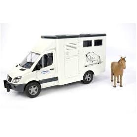 Carrinha MD Sprinter Transportador de Gado com Cavalo - Bruder