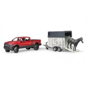 Carrinha RAM 2500 Power Wagon com Atrelado de Cavalos - Bruder