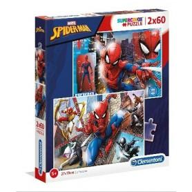 Puzzle 2x60 SpiderMan - Clementoni