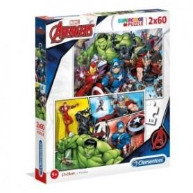 Puzzle 2x60 Vingadores - Clementoni