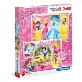 Puzzle 2x60 Princesas - Clementoni