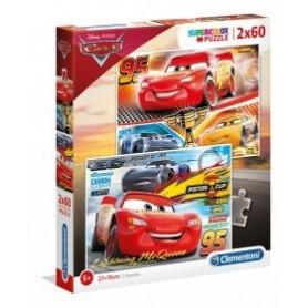 Puzzle 2x60 Cars - Clementoni