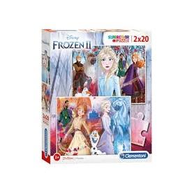 Puzzle 2x20 SuperColor Frozen II - Clementoni