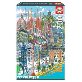 Puzzle Cidades: Barcelona - Educa