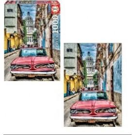 Puzzle 1000 peças Carro em Havana - Educa