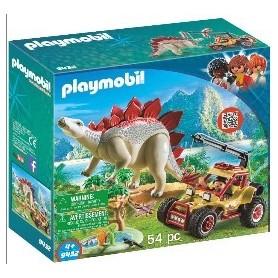 Playmobil Dino: Veiculco com Stegossaurus 4+
